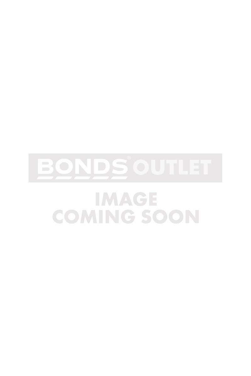 Bonds Outlet Sport Zip Front Wirefree White & Dada Grey