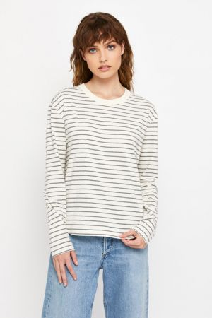 Bonds Outlet Bonds Recycled Long Sleeve Crew Tee Stripe 7S8