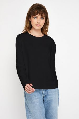 Bonds Outlet Bonds Recycled Long Sleeve Crew Tee Nu Black
