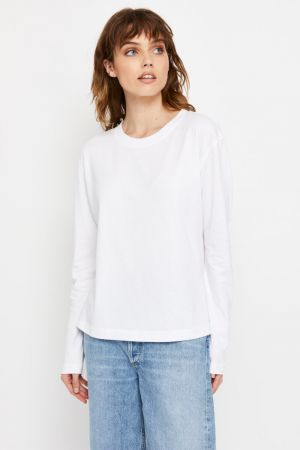 Bonds Outlet Bonds Recycled Long Sleeve Crew Tee Nu White