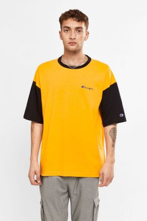 Champion Oversize Mini Script T-Shirt Bright Orange AWMXA1 BJX