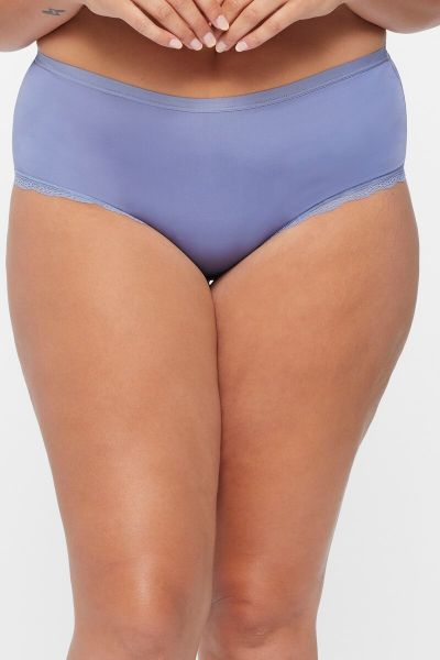 Bonds Outlet Berlei Micro Lace Full Brief Violet Shadow